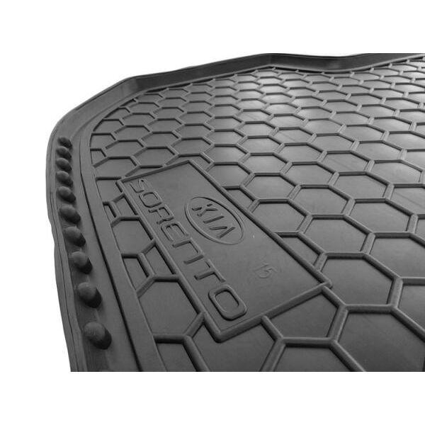 Автомобильный коврик в багажник Kia Sorento 2015- (5 мест) (Avto-Gumm)