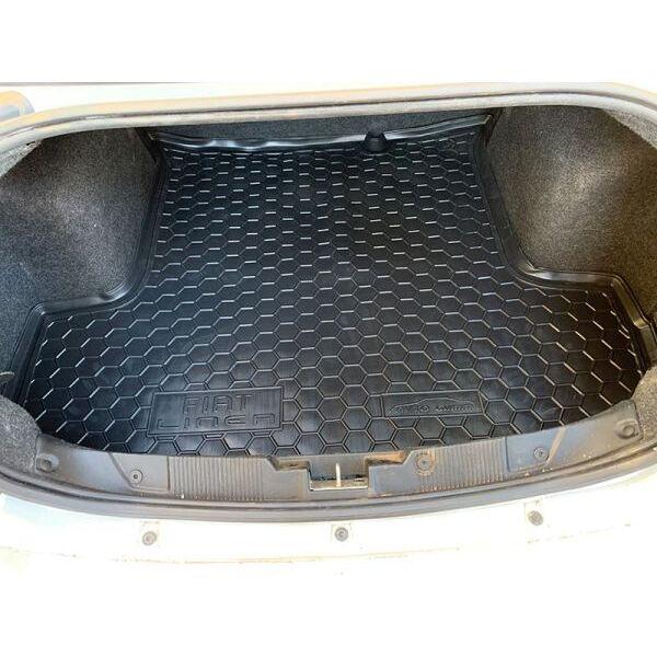 Автомобильный коврик в багажник Fiat Linea 2007- (Avto-Gumm)