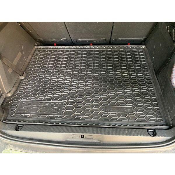 Автомобильный коврик в багажник Peugeot 5008 2019- 5 мест (Avto-Gumm)