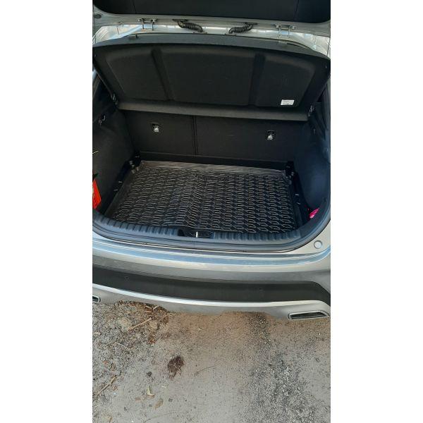 Автомобильный коврик в багажник Kia XCeed 2019- Hb (нижняя полка) (Avto-Gumm)