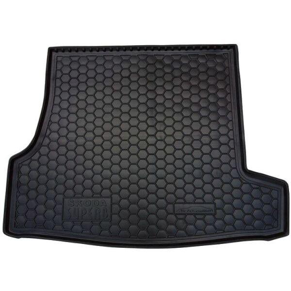 Автомобильный коврик в багажник Skoda SuperB 2001-2008 (Avto-Gumm)