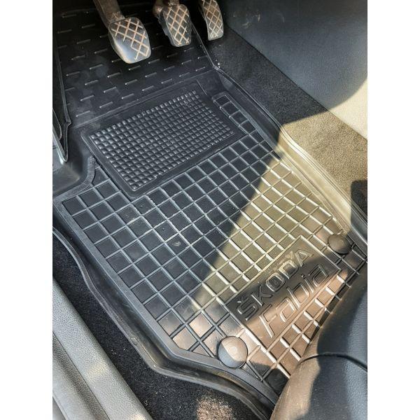 Водительский коврик в салон Skoda Fabia 2 2007- (Avto-Gumm)