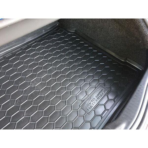 Автомобильный коврик в багажник Renault Megane 2 2002- Hatchback (Avto-Gumm)