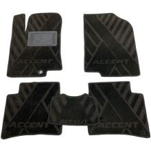 Текстильные коврики в салон Hyundai Accent 2011- (RB) (AVTO-Tex)