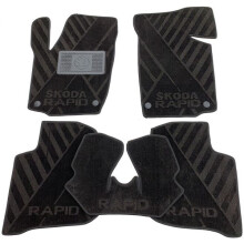 Текстильные коврики в салон Skoda Rapid 2013- (AVTO-Tex)