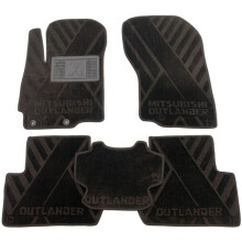 Текстильные коврики в салон Mitsubishi Outlander 2012- (AVTO-Tex)