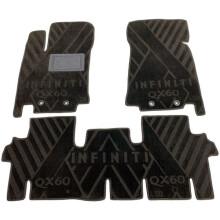 Текстильные коврики в салон Infiniti JX/QX60 2012- 5 мест (AVTO-Tex)