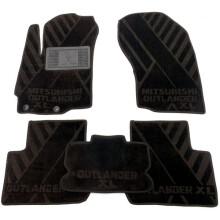 Текстильные коврики в салон Mitsubishi Outlander XL 2007-2012 (AVTO-Tex)