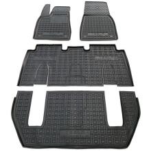 Автомобильные коврики в салон Tesla Model X 2016- 7 мест (Avto-Gumm)